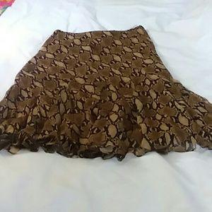 Ralph Lauren Snake Print Skirt  Sz P M